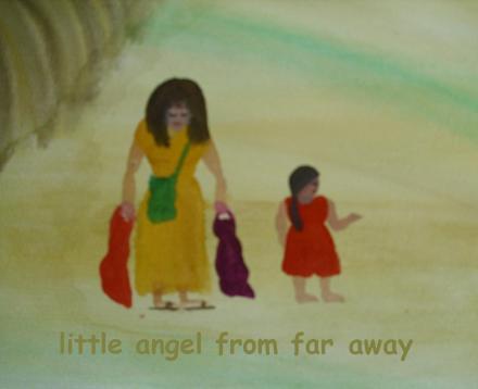 ...cover - Little Angel From Far Away....art by Jutta Gabriel...
