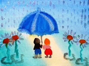 ...summer rain...art by Jutta Gabriel...