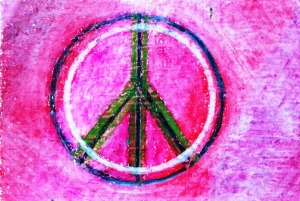...peace...art by Jutta Gabriel...(crayons on paper)...