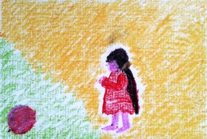 ...poisen playgrounds...art by Jutta Gabriel...(crayons on paper...