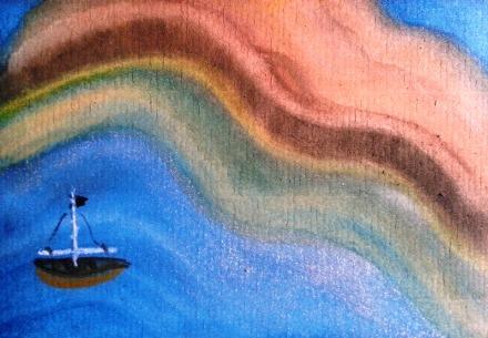 ...shore leave...art by Jutta Gabriel...(watercolors on paper)...