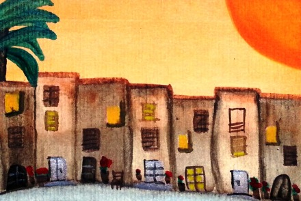 ...sunny days...art by Jutta Gabriel...(watercolors on paper)...