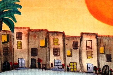 ...sunny days...art by Jutta Gabriel...(watercolors on paper)...