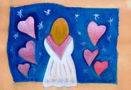 ...love never ends...art by Jutta Gabriel...(watercolors on paper)...