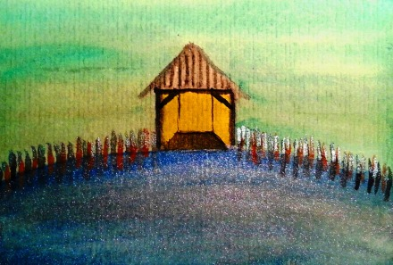 ...boathouse...art by Jutta Gabriel...(watercolors on paper)...