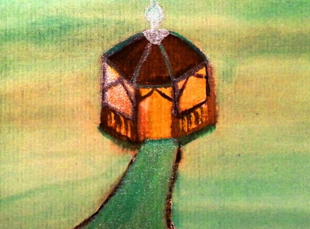 ...teahouse...art by Jutta Gabriel...(watercolors on paper)...